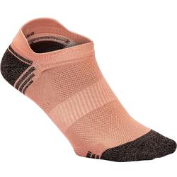 Sokken voor sportief wandelen WS 500 Fresh Invisible koraal