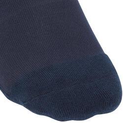 Paardrijkousen Basic volwassenen marineblauw met turquoise strepen 1 paar - 173293