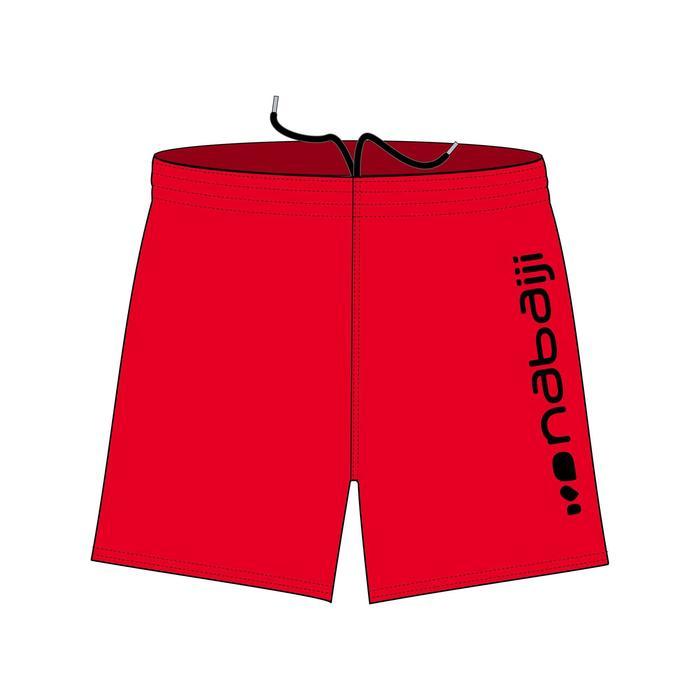 Zwemshort voor heren 100 Basic rood/zwart