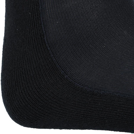 مجموعة جوارب Basic فردية مخصصة لركوب الخيل للكبار- مخطط أسود/ رمادي