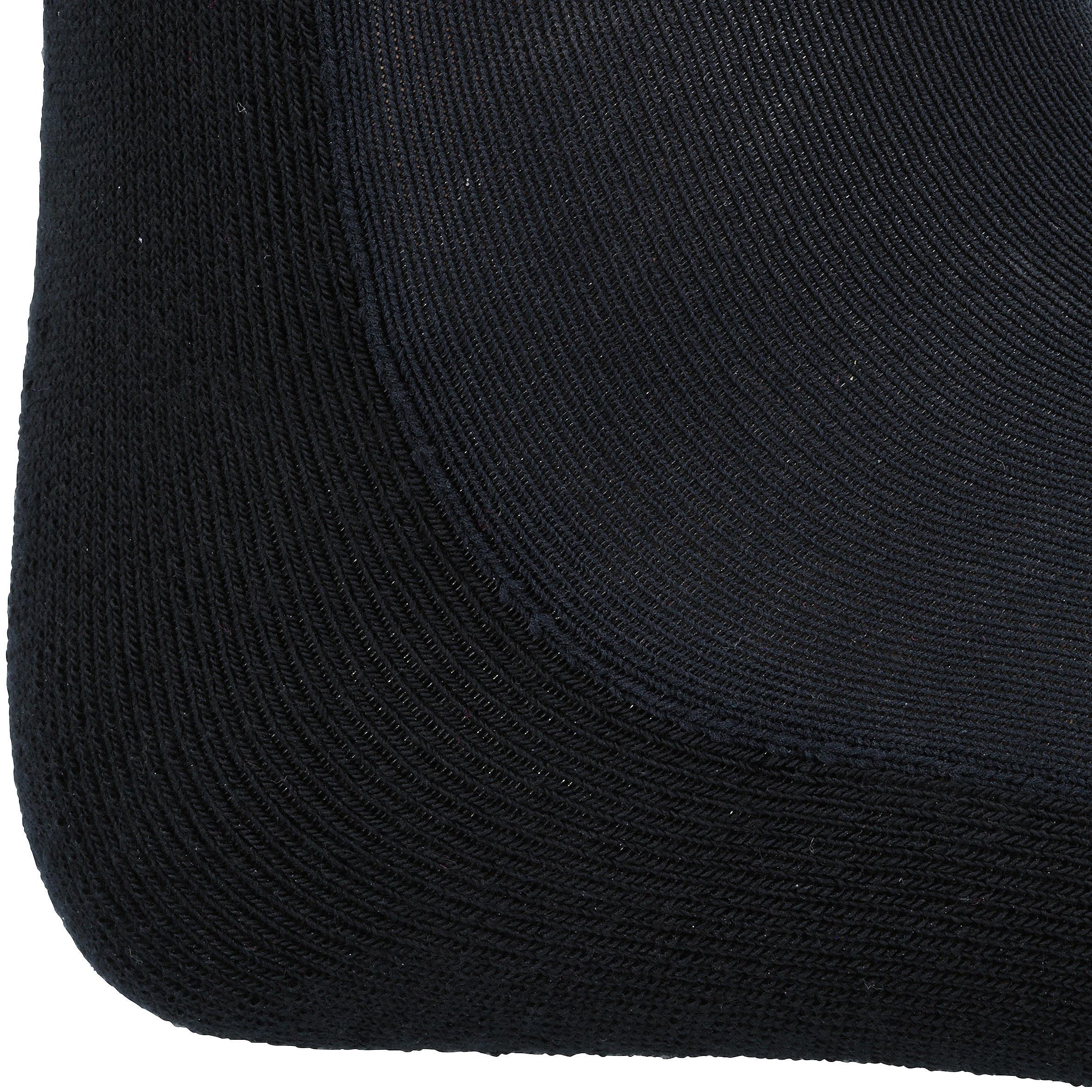 Chaussettes équitation adulte 100 noir/rayures grises