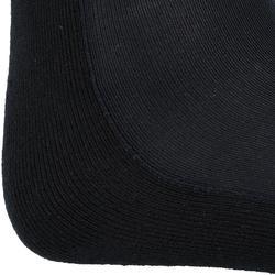 Reitsocken 100 Erwachsene Einzelpaar schwarz/grau gestreift