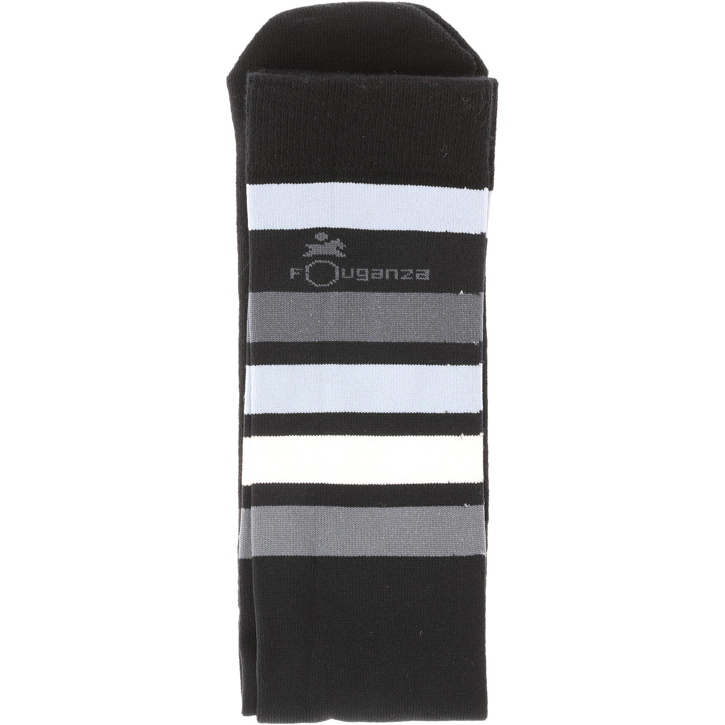 Chaussettes d'équitation adulte BASIC noires rayures grises X1 paire