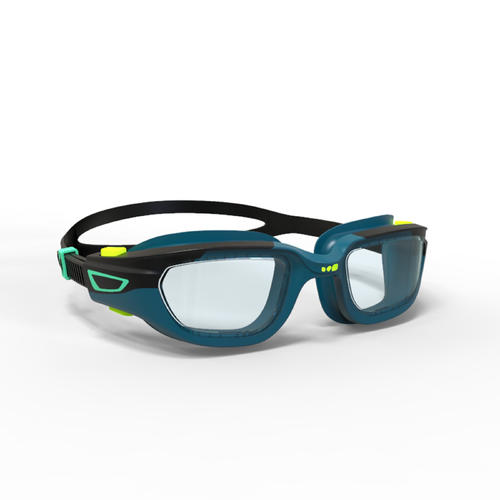 lunettes de piscine 500 spirit taille S bleu noir verres clairs