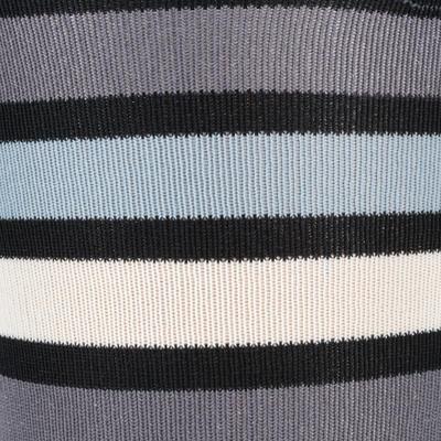 גרבי רכיבה בסיסיים למבוגרים 1 זוגות - פסים שחורים/אפורים