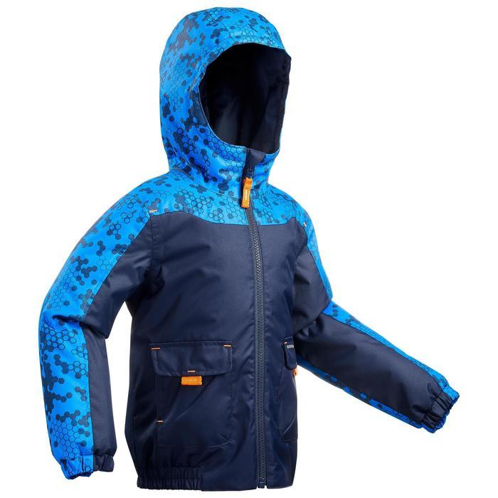 男童款2至6歲保暖雪地健行外套SH100-軍藍色