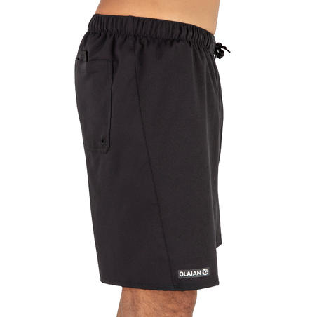 Surf boardshorts standard 100 Simple Black