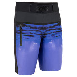Surf boardshort long 950 underwater blue