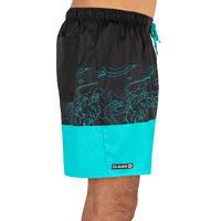 Surfing Short Boardshorts 100 - Blockoi Turquoise