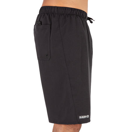 Surfing Long Boardshorts 100 - Simple Black