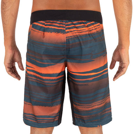 Surfing Standard Boardshorts 500 - Mistywaves Neon