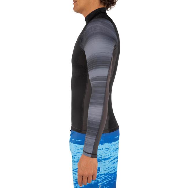 MEN'S LONG SLEEVE UV RASH GUARD SURFING 500 - BLACK
