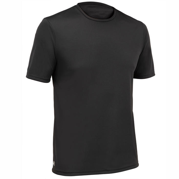 WATER TEE SHIRT top anti UV surf Manches Courtes Homme Noir