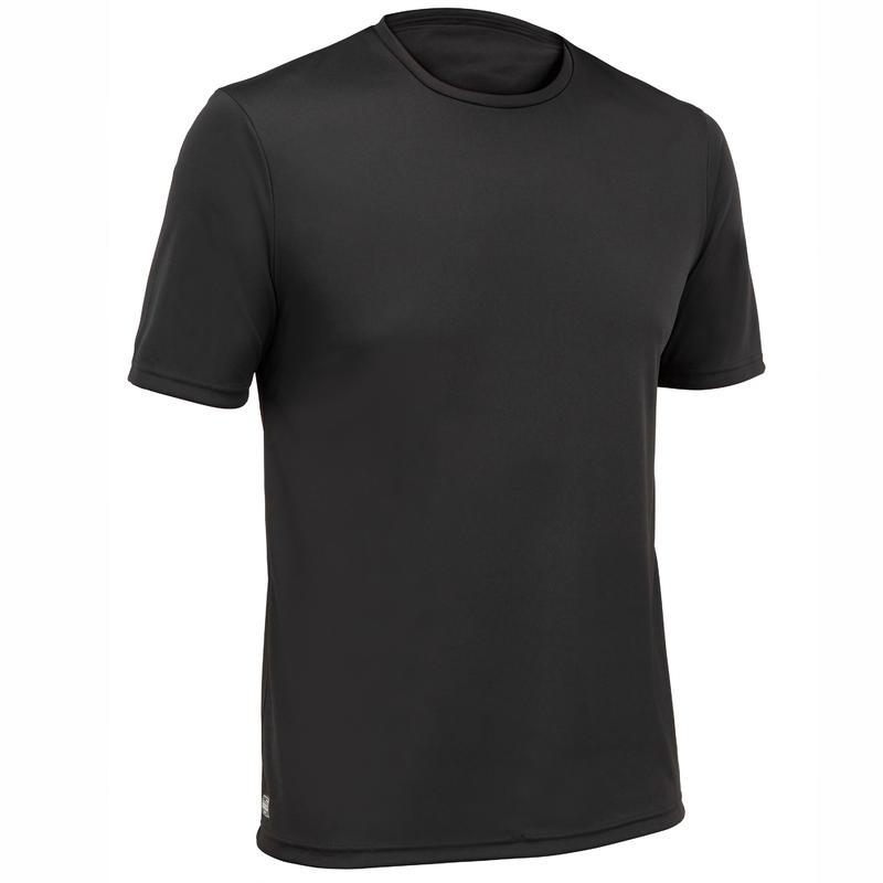 Men's surfing short-sleeve anti-UV WATER T-SHIRT - Black