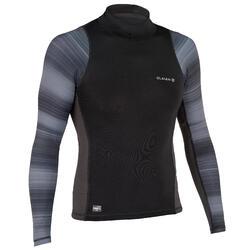 UV-Shirt langarm UV-Top 500 Surfen Herren schwarz