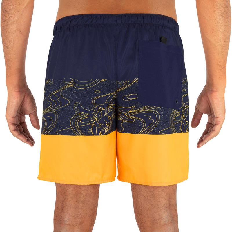 Surfing Short Boardshorts 100 - Blockoi Orange