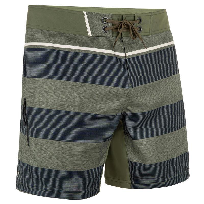 Erkek Deniz Şortu / Kısa Boardshort - Yeşil - 500