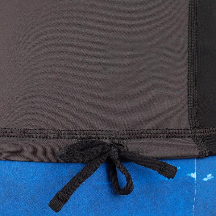 Men's Surfing Long Sleeve UV Protection Top T-Shirt 500 - Black