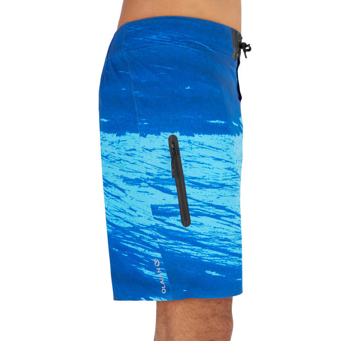 Zwemshort heren 900 Trash blauw