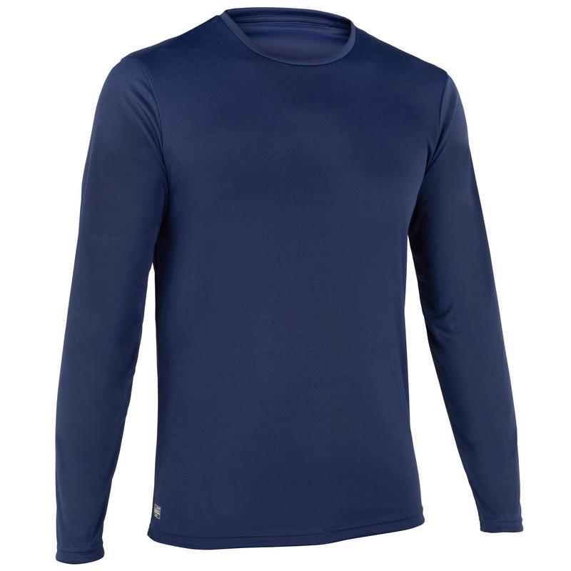 WATER tee SHIRT top anti UV surf Manches Longues Homme Bleu
