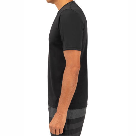Men's Surfing UV Protection Short Sleeve Water T-Shirt - Black