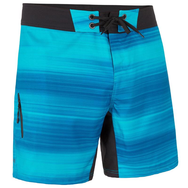 Korte zwembroek heren 500 Fast blauw