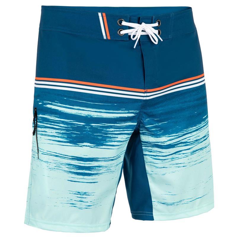Zwemshort heren 500 Radical petrolblauw