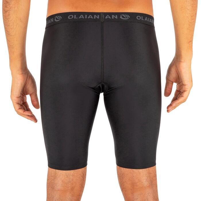 底層及膝泳褲500-黑色
