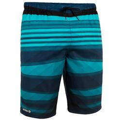 Calções de Praia Compridos Homem Surf 100 Camada Azul