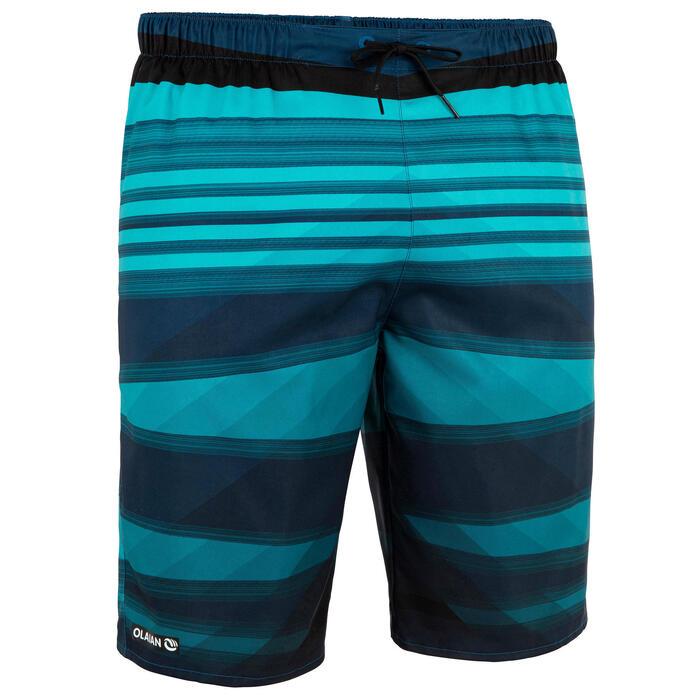 Lange heren zwembroek 100 Camada blauw