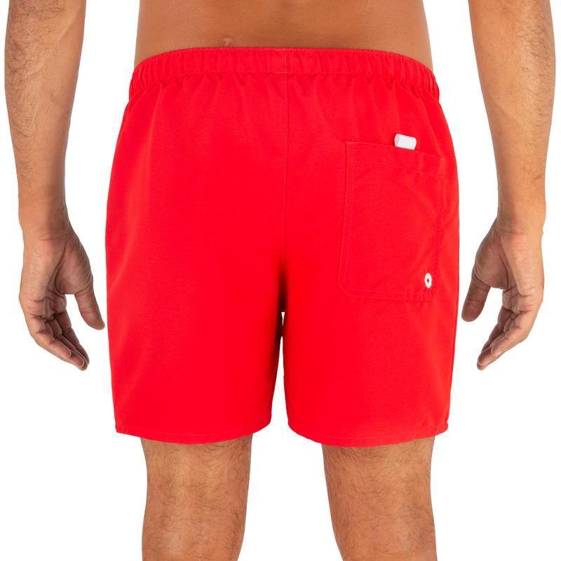 กางเกงชายหาดขาสั้นรุ่น Hendaia (สีแดง NT Red)