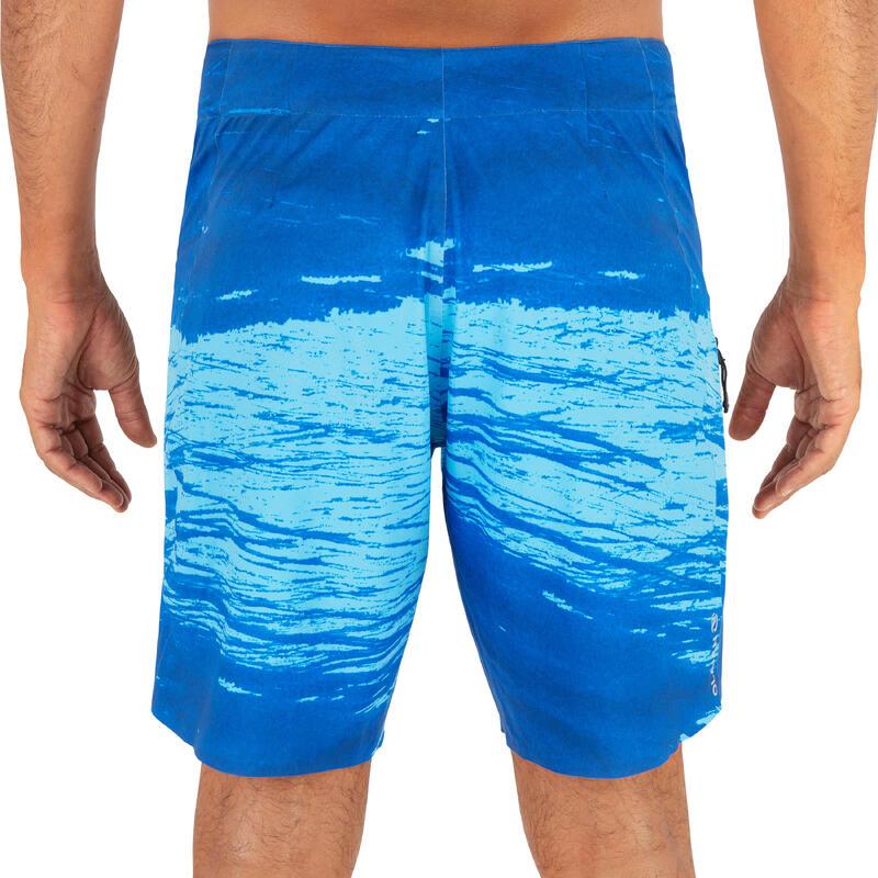 Bañador Hombre Boardshort Surf 900 Adulto Trash Blue Estándar