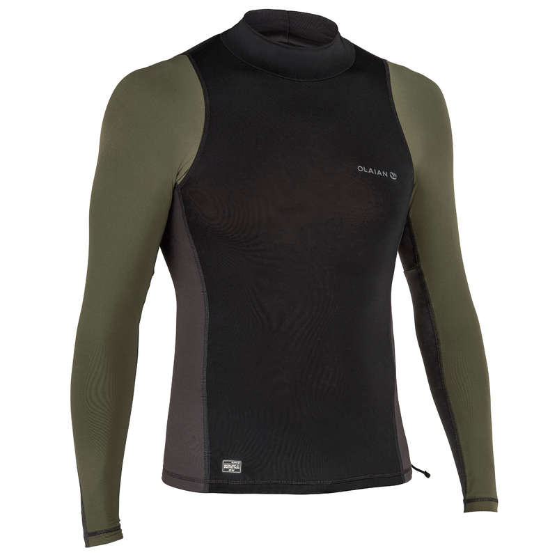 MEN SOLAR PROTECTION WEAR Surf, Bodyboard, Wakeboard - Bluză anti-uv 500 Bărbați  OLAIAN - Costume de baie, Protectii Solare, Papuci