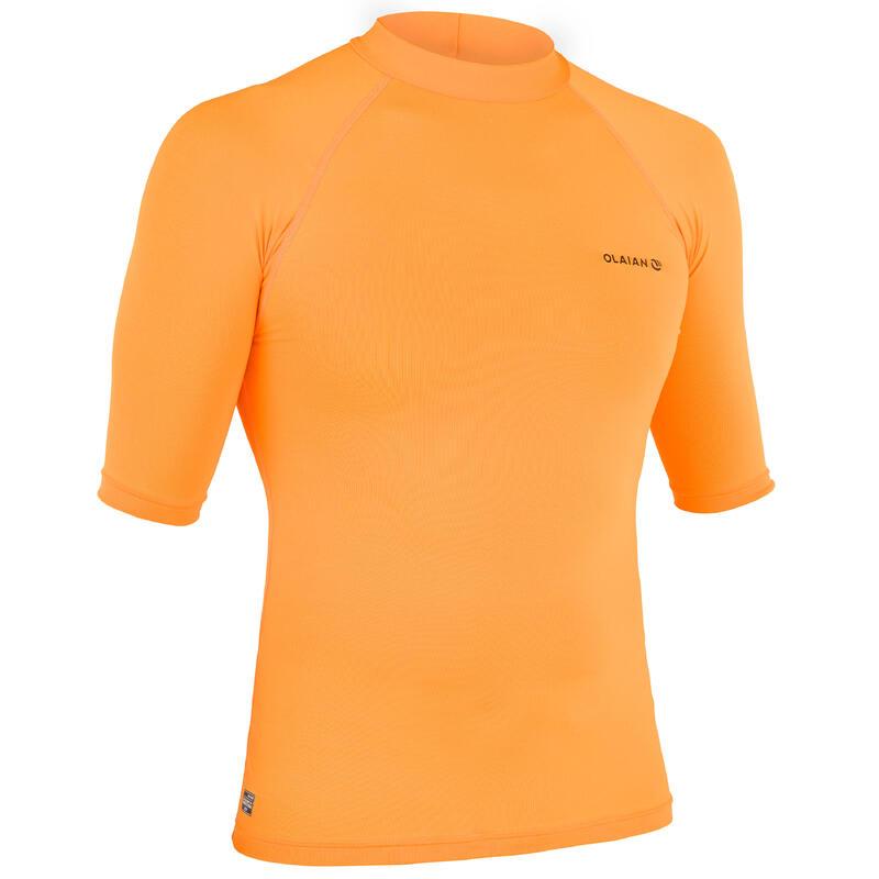 Tricou Surf Anti-UV 100 Portocaliu Bărbaţi