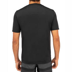 WATER tee SHIRT anti UV surf Manches Courtes Homme Noir