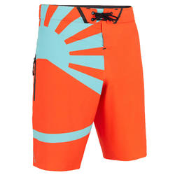 Surf boardshort Long 900 Océan light fluo