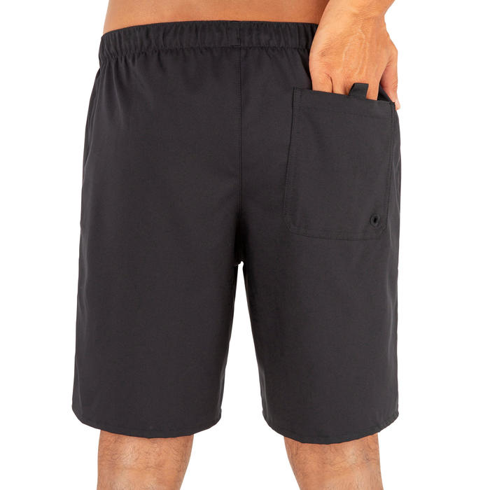 Surf boardshort standard 100 Simple Black