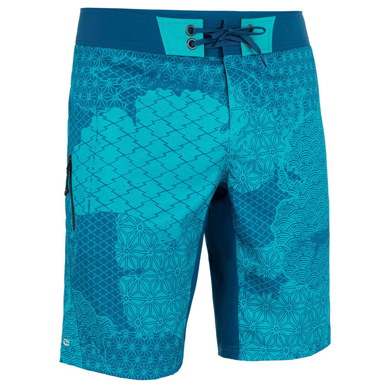 Surfing Standard Boardshorts 500 - Patchwork Turquoise
