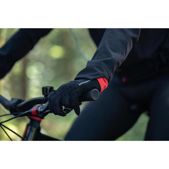MTB Fahrradjacke ST 500 Herren rot/schwarz