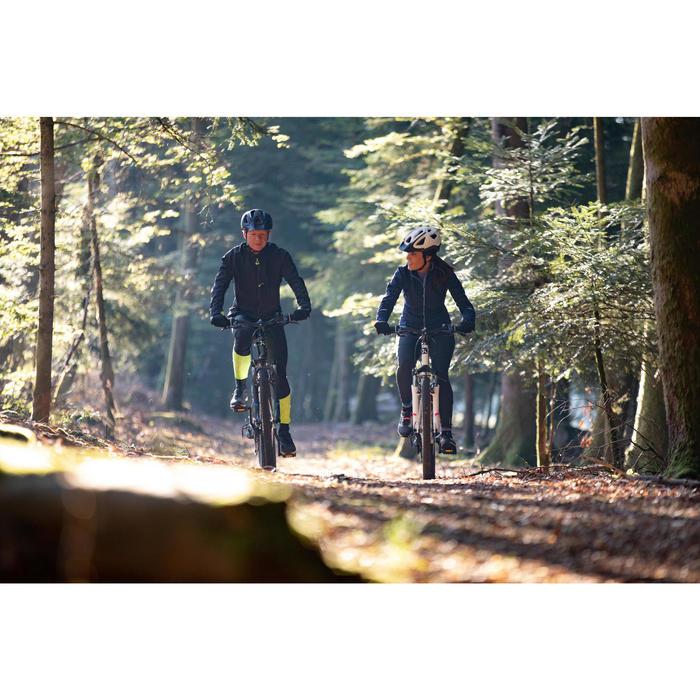 Collant avec bretelles de VTT randonnée homme ST 500 noir et jaune