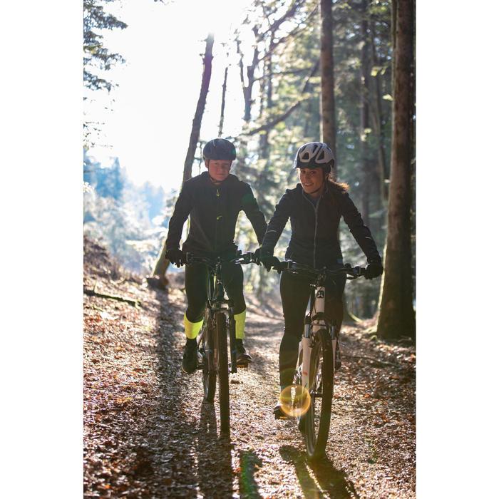 Lange Trägerhose ST 500 Trekking-MTB Herren schwarz/gelb