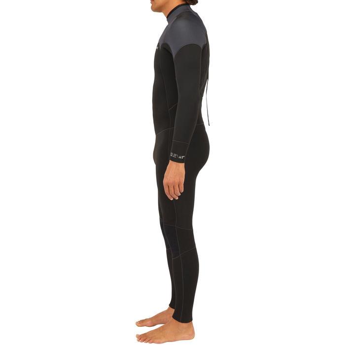 Fato SURF 500 Neopreno 4/3 mm homem Preto e Cinza