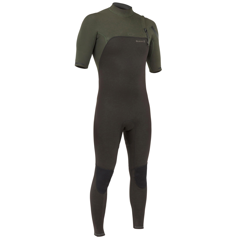 Surfwetsuit voor heren pro john 900 neopreen 2 mm kaki