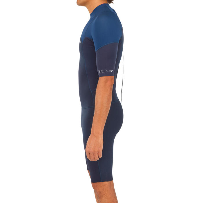 Combinaison Surf Shorty 500 stretch Néoprène bleue