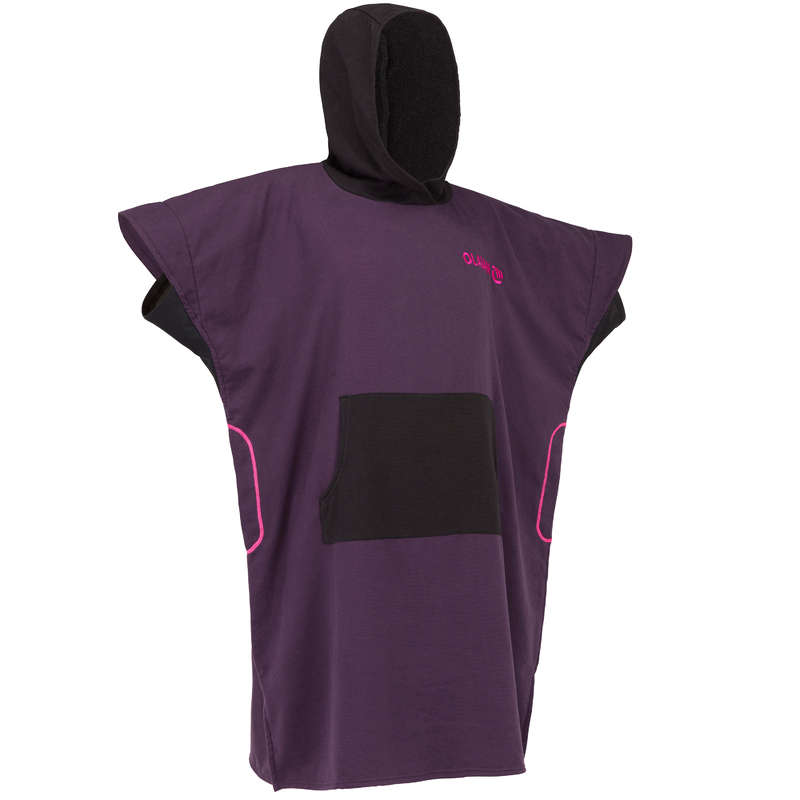 BEACH TOWELS AND PONCHO Surf - Adult Poncho 500 - Purple OLAIAN - Surf Clothing
