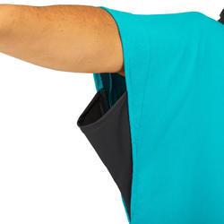 Surfponcho voor volwassenen 500 blauw