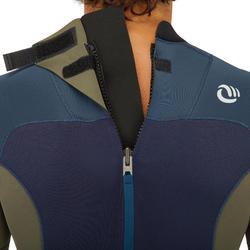 Combinaison SURF 500 Néoprène 3/2 mm homme Bleue kaki