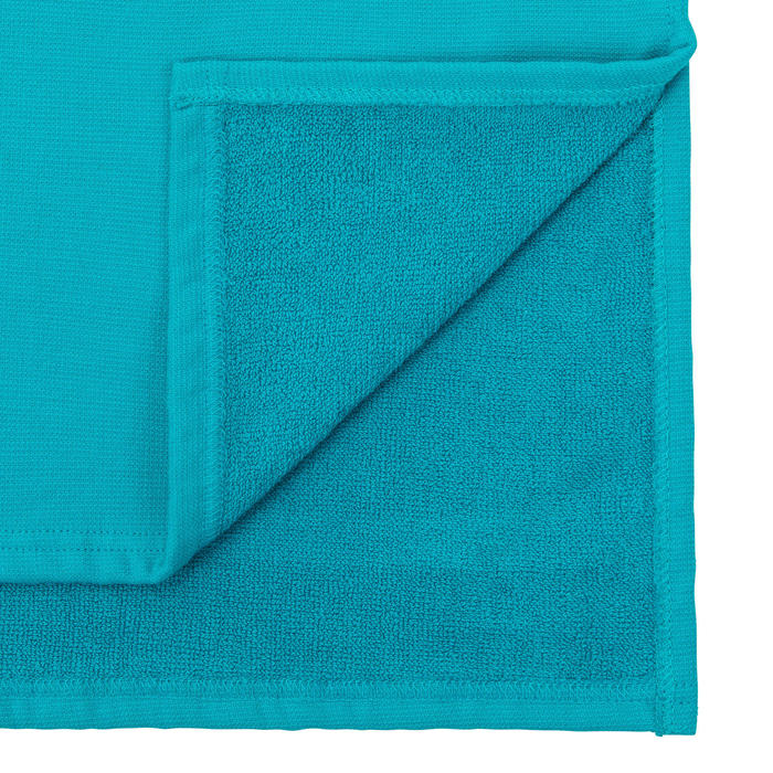 成人款衝浪毛巾衣500-藍色