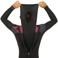 Combinaison SURF 500 Néoprène 4/3 mm homme Noire et Grise