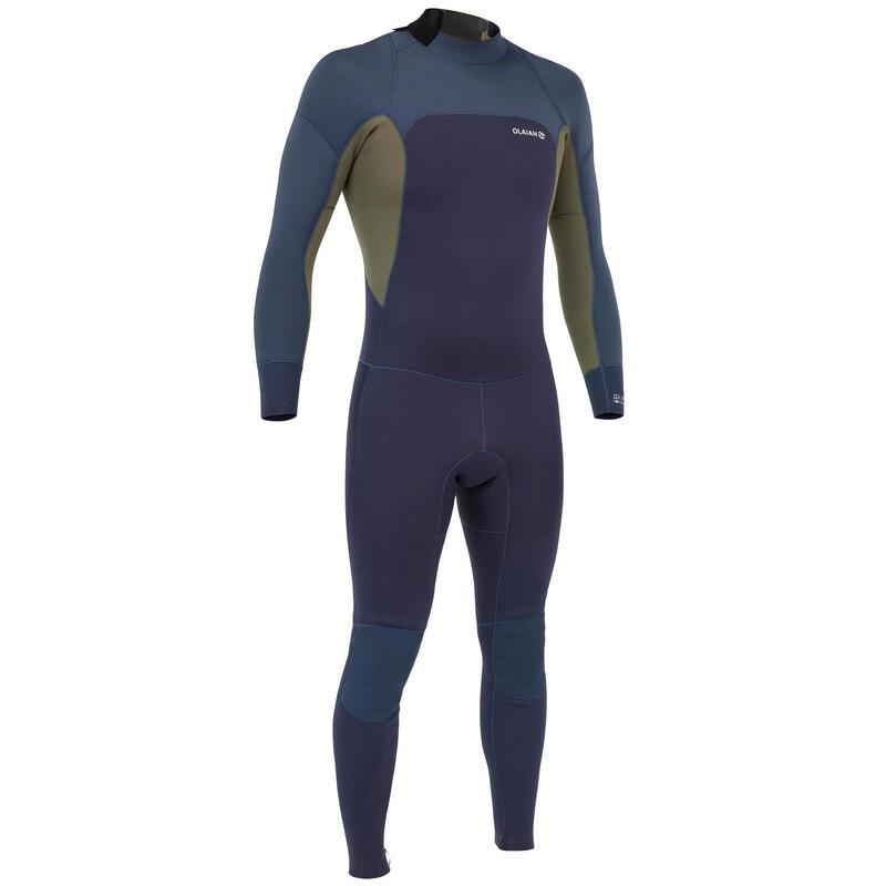 Neopreno Surf Hombre Olaian 500 Azul Caqui 3/2Mm